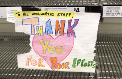 Thank you for your efforts hand drawn note
