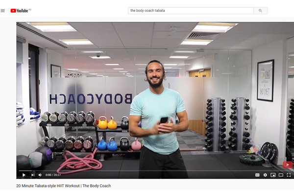 The Body Coach in the gym
